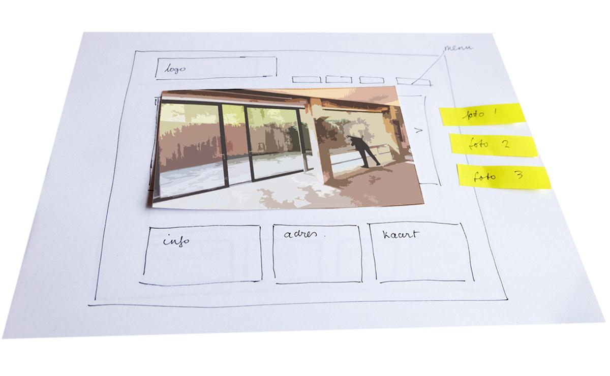 schetsontwerpen voor website